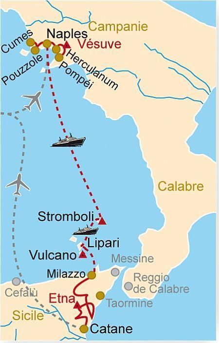 IT 95 Volcans d'Italie, Vésuve, Etna, Stromboli   Clio   Voyage