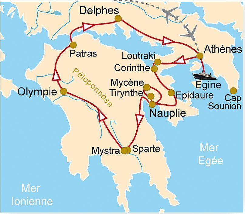 GR 35 Hauts lieux de la Grèce en famille, Athènes, Mycènes, Sparte