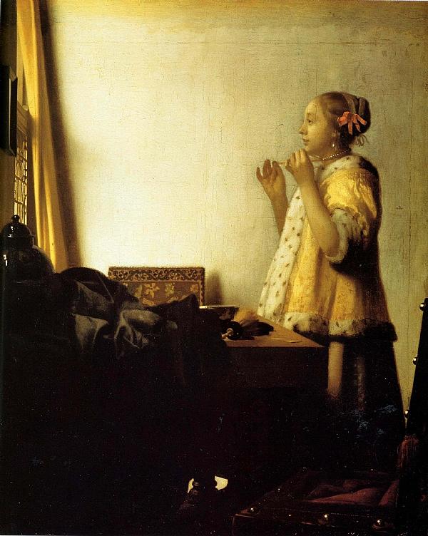 Johannes vermeer le collier de perles for Biographie de vermeer