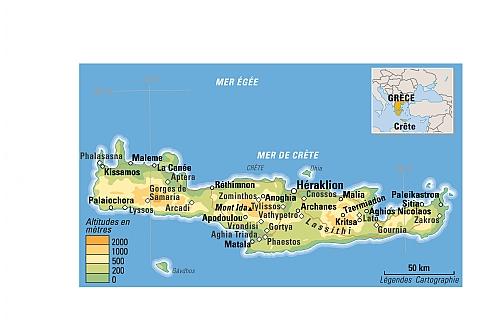 Carte Crete Sud Est.Quoi Visiter En Crete En Grece Decouvrir La Grece
