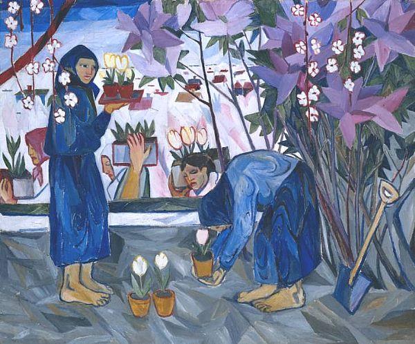 Natalia goncharova le jardinage