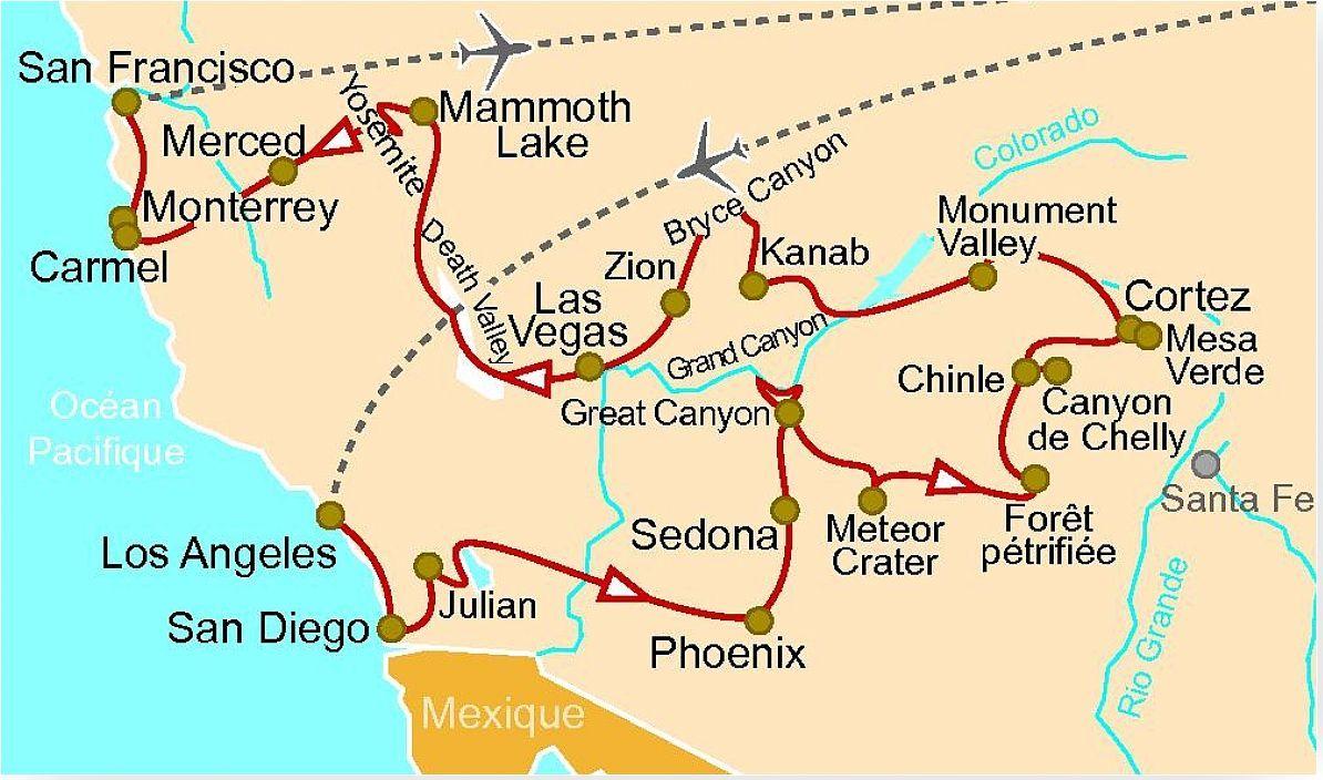 Us 96 L Ouest Am 233 Ricain Los Angeles Monument Valley Le