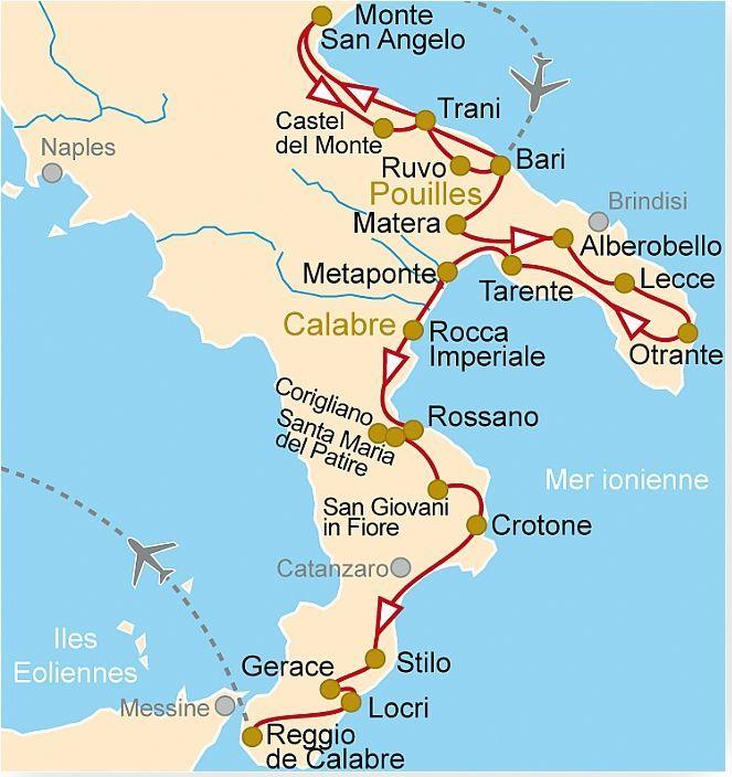 Carte Italie Calabre.It 82 Pouilles Et Calabre Decouverte De La Grande Grece Et