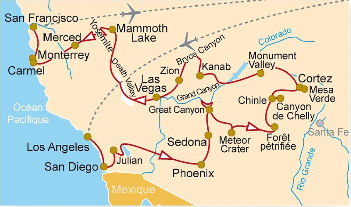 Us 32 L Ouest Am 233 Ricain Los Angeles Monument Valley Le