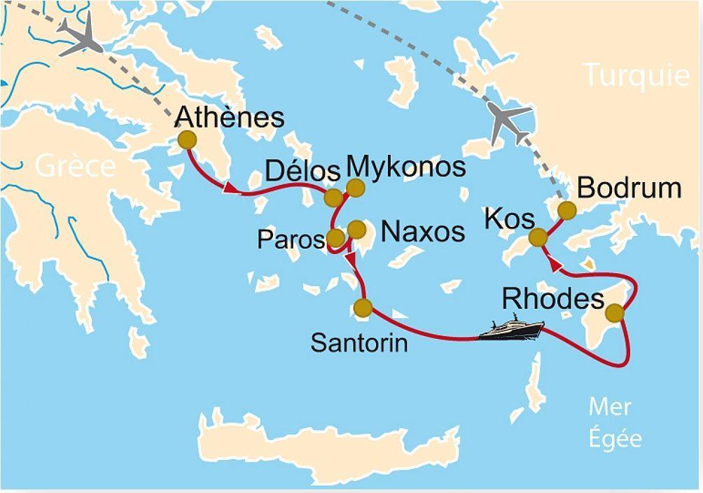 CM 98 La Grèce et ses îles, Athènes, Délos, Mykonos, Paros, Naxos